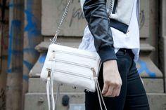 Minkoff mini 5-zip in white