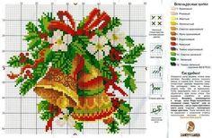 Schema punto croce Campane Floreali