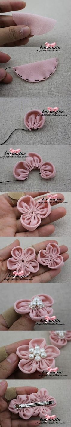 joybobo: Cute and easy DIY fabric flower pins - http://www.joybobo.com/2013/06/cute-and-easy-diy-fabric-flower-pins.html?m=1