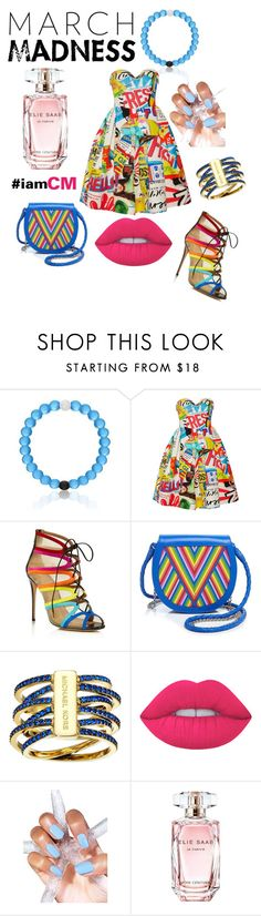 """Something Borrowed Something Blue~"" by cocomeshelle ❤ liked on Polyvore featuring Moschino, Salvatore Ferragamo, Lili Radu, Michael Kors, Lime Crime, Elie Saab, iamCM and SRFH"