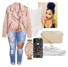 """""""Untitled #1132"""" by kennwest234 ❤ liked on Polyvore featuring WearAll, Michael Kors, NIKE, MICHAEL Michael Kors and Kate Spade"""