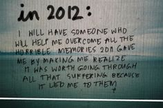 It may not happen in 2012, but someday!