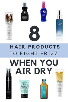 11 Hair Products To Fight the Frizz When You Want to Air Dry – I Spy Fabulous Sure, we'd all love to spend hours perfectly styling our hair – but especially for new moms, this isn't an option. Frizzy Hair Remedies, Dry Frizzy Hair, Hair Frizz, Frizzy Hair Treatment, Haircuts For Frizzy Hair, Make Up Tools, Natural Hair Care, Natural Hair Styles, Eyeliner