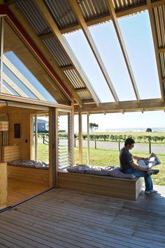 Shoal Bay bach: rugged and unpretentious rural architecture | Designhunter - architecture & design blog
