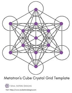 I wanted to share a few printable templates for you to use for setting up your own crystal grid at home. In the coming weeks I will be sharing more in de