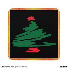 Christmas Tree Beverage Coaster #ChristmasTree #MerryChristmas #Christmas #Holiday #Beverage #Coaster