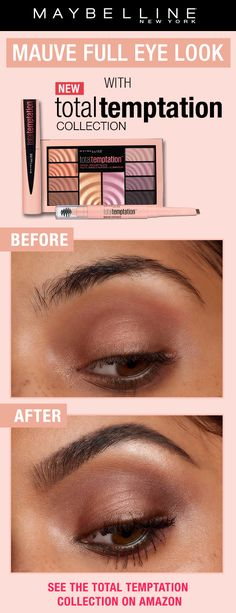 The most addictive makeup yet. Give in to Total Temptation. Featuring a Eyeshadow and Highlighter palette, a brow definer and a coconut-scented mascara. Get versatile makeup looks for any tempting events y Beauty Skin, Beauty Makeup, Hair Beauty, Beauty Secrets, Beauty Hacks, Beauty Tips, Seductive Makeup, Gorgeous Makeup, Eye Make Up