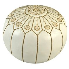 I pinned this Morocco Pouf in White from the Bohemian Boudoir event at Joss and Main!