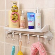 Raflı ve Kancalı Vantuzlu Banyo Askılığı