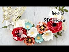 3D-Flowers with Stampin' Up! Flower Frenzy Die - YouTube