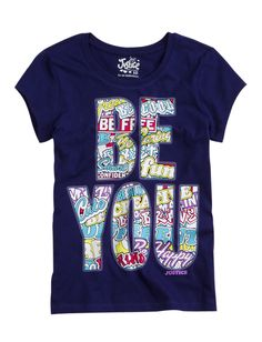 Be You ultraviolet graphic tee from Justice #kids