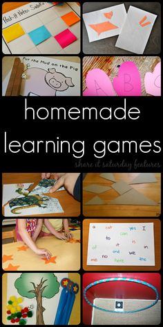 10 Homemade Games for Kids to Play and Learn - Share It Saturday features