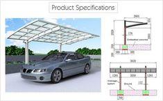 SUNSHIELD Carport - Alu Carport with PC Panel - Polycarbonate Carport for Sale - Aluminum Carport Awnings Product Specification