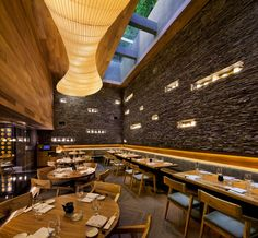 for NOBU's mexico city restaurant sordo madaleno arquitectos took inspiration from the elements to transform a colonial mansion into a contemporary setting Concept Restaurant, Nobu Restaurant, Restaurant Seating, Restaurant Lighting, Outdoor Restaurant, Restaurant Design, Design Blog, Cafe Design, Mexico City Restaurants
