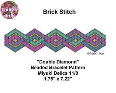 Double Diamond Bracelet Pattern Brick Stitch by TinkersDrift