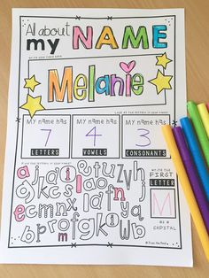 Fun back to school name activity.
