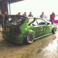 Green civic Ek hatchback