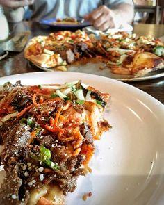 Korean BBQ with Kimchi Pizza ! #Food