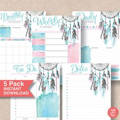Printable Instant Download so these planners are yours forever and to print as…