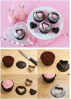 Decoración de muffins para San Valentín