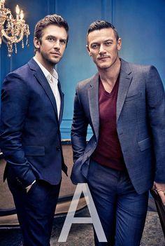Dan Stevens and Luke Evans photographed by Art Streiber. - (x)