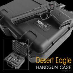 Custom Desert Eagle Handgun Case. See more at http://www.casecruzer.com/guncruzer/custom-lockable-gun-case.html #handgun #guns