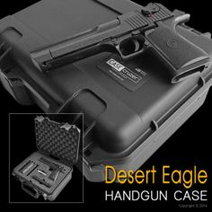 Custom Desert Eagle Handgun Case. See more at http://www.casecruzer.com/guncruzer/custom-lockable-gun-case.html #handgun #guns