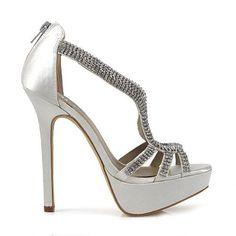 betts silver high heels