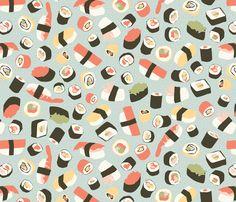 Yummy Sushi! fabric by einekleinedesignstudio on Spoonflower