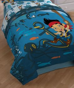 Look at this Jake & the Never Land Pirates Waves Comforter on #zulily today!
