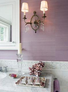 Everything Fabulous: Color Inspiration: Soft Smokey Lavender bathroom Lavender Bathroom, Purple Bathrooms, Purple Rooms, Bathroom Colors, Purple Walls, Bathroom Purple, Lavender Walls, Neutral Bathroom, Design Bathroom