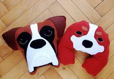 Boxer pillow Cavalier King Charles Spaniel pillow