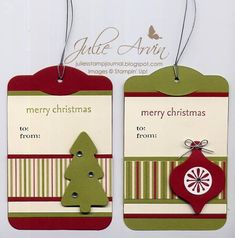 Stocking Accents Christmas Tags by Julie Bug - Cards and Paper Crafts at Splitcoaststampers