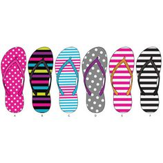 Spring is all about the stripes and polka dots! Flip flops for women in bulk wholesale at dollardays.com. Less than $2 a pair.