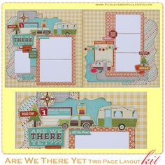 Are We There Yet Two Page Layout kit