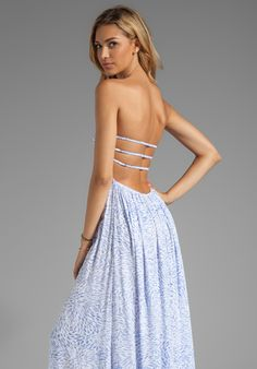 Smocked Bandeau Maxi Dress