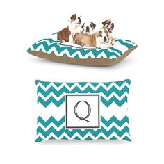 Kess InHouse Chevron Blue Teal Fleece Dog Bed ** Don't get left behind, see this great dog product : Dog Beds and Furniture