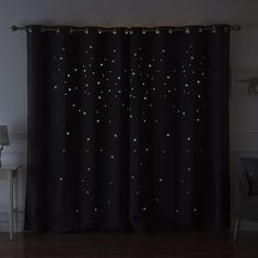 Jayme Star Cut Out Blackout Thermal Grommet Curtain Panels Baby Room Decor, Bedroom Decor, Grommet Curtains, Curtain Panels, Small Room Bedroom, Star Bedroom, Black Rooms, Aesthetic Bedroom, Dream Rooms