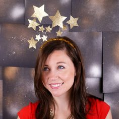 Celebrate the new year with three simple tutorials for making fun, glittery headbands, including this shooting star headband!