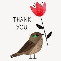 Thank you - Ella Bailey Illustration Thank You Wishes, Thank You Greetings, Thank You Messages, Thank You Quotes, Thank You Gifts, Thank You Cards, Thank You Card Design, Thank You Card Template, Bird Illustration