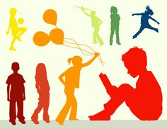 silhouettes of kids - Google Search