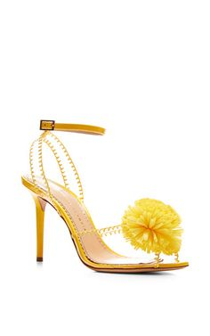 Pom pvc and patent-leather sandals by CHARLOTTE OLYMPIA Now Available on Moda Operandi