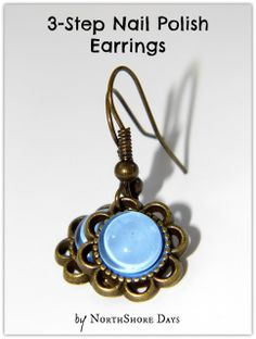 Nail Polish Earrings - Jewelry Making Wire Jewelry, Jewelry Crafts, Jewelery, Handmade Jewelry, Nail Polish Jewelry, Nail Polish Crafts, Diy Jewelry Tutorials, Jewelry Ideas, Jewelry Supplies