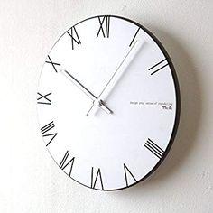 f31f265bab Amazon JQStar 木製 ローマ数字 壁掛け時計 北欧風 壁掛け時計 見易い シンプル 連続秒針 消音 面白い 壁掛け時計 創意 ファッション  おしゃれ トレンディ 静音 石英 ...