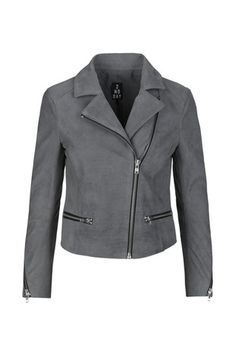 Grey Leather Jacket, Ss 15, Spring Summer 2015, My Style, Jackets, Collection, Fashion, Down Jackets, Moda