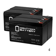 12V 7Ah Battery Replacement for ASF 300LB Evolution Feeder - 4 Pack - Mighty Max Battery brand product   http://huntinggearsuperstore.com/product/12v-7ah-battery-replacement-for-asf-300lb-evolution-feeder-4-pack-mighty-max-battery-brand-product/