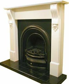 Victorian Fireplace Company, London UK - Pine Victorian Wooden Fireplace Surround Mantel