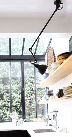 Ausziehbare Deckenleuchte LAMPE GRAS N° 302 an Teleskopstange * Auch eine tolle Küchenlampe