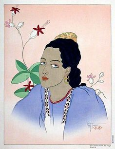 Une Jeune Fille De Fidji. Oceanie, 1935 by Paul Jacoulet