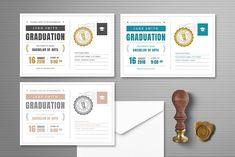Postcard Graduation Invitation by Vynetta on @creativemarket